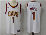 Cleveland Cavaliers #1 Derrick Rose 2017/18 White Authentic Jersey
