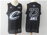 Cleveland Cavaliers #23 LeBron James Black 2018 All-Star Game Swingman Jersey