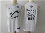 Cleveland Cavaliers #23 LeBron James White 2018 All-Star Game Swingman Jersey