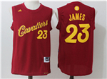 Cleveland Cavaliers #23 LeBron James Burgundy 2016 Christmas Day Jersey