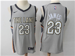 Cleveland Cavaliers #23 LeBron James Gray City Edition Swingman Jersey