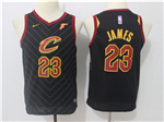 Cleveland Cavaliers #23 LeBron James 2017/18 Youth Black Jersey