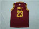 Cleveland Cavaliers #23 LeBron James Youth Red Jersey