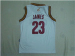 Cleveland Cavaliers #23 LeBron James Youth White Jersey