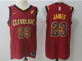 Cleveland Cavaliers #23 LeBron James 2017/18 Burgundy Authentic Jersey