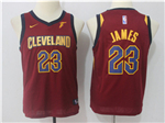 Cleveland Cavaliers #23 LeBron James 2017/18 Youth Burgundy Swingman Jersey