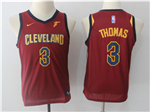 Cleveland Cavaliers #3 Isaiah Thomas 2017/18 Youth Burgundy Swingman Jersey