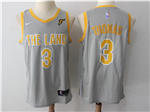 Cleveland Cavaliers #3 Isaiah Thomas Gray The Land Swingman Jersey