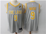 Cleveland Cavaliers #9 Dwyane Wade Gray The Land Swingman Jersey