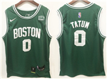 Boston Celtics #0 Jayson Tatum Green Swingman Jersey