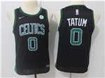 Boston Celtics #0 Jayson Tatum 2017/18 Youth Black Swingman Jersey