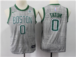 Boston Celtics #0 Jayson Tatum Youth Gray City Edition Swingman Jersey