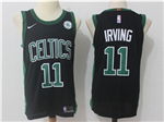 Boston Celtics #11 Kyrie Irving Black Authentic Jersey
