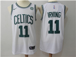 Boston Celtics #11 Kyrie Irving 2017/18 White Swingman Jersey