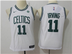 Boston Celtics #11 Kyrie Irving Youth White Swingman Jersey