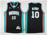Vancouver Grizzlies #10 Mike Bibby Black Hardwood Classic Jersey