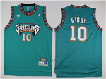 Vancouver Grizzlies #10 Mike Bibby Teal Hardwood Classic Jersey