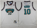 Vancouver Grizzlies #10 Mike Bibby White Hardwood Classic Jersey