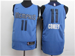 Memphis Grizzlies #11 Mike Conley 2017/18 Blue Authentic Jersey