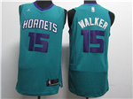 Charlotte Hornets #15 Kemba Walker Teal Authentic Jersey