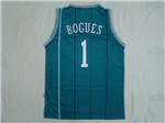 Charlotte Hornets #1 Muggsy Bogues Teal Hardwood Classic Jersey