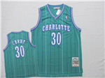 Charlotte Hornets #30 Dell Curry Teal Hardwood Classic Jersey
