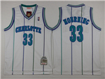 Charlotte Hornets #33 Alonzo Mourning White Hardwood Classic Jersey