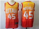 Utah Jazz #45 Donovan Mitchell Multi Color City Edition Swingman Jersey