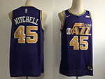 Utah Jazz #45 Donovan Mitchell Purple Swingman Jersey