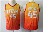 Utah Jazz #45 Donovan Mitchell Youth Multi Color City Edition Swingman Jersey