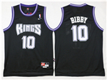 Sacramento Kings #10 Mike Bibby Throwback Black Jersey