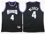 Sacramento Kings #4 Chris Webber Throwback Black Jersey