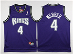 Sacramento Kings #4 Chris Webber Throwback Purple Jersey
