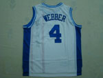 Sacramento Kings #4 Chris Webber 1960 Royals White Hardwood Classic Jersey