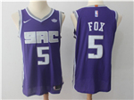 Sacramento Kings #5 De'Aaron Fox Purple Authentic Jersey