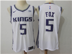 Sacramento Kings #5 De'Aaron Fox White Authentic Jersey