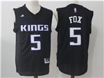 Sacramento Kings #5 De'Aaron Fox Black Jersey
