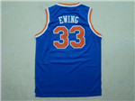 New York Knicks #33 Patrick Ewing Throwback Blue Jersey