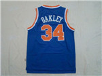 New York Knicks #34 Charles Oakley Throwback Blue Jersey
