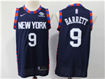 New York Knicks #9 R.J. Barrett Navy City Edition Swingman Jersey