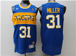 Indiana Pacers #31 Reggie Miller Throwback Blue Jersey