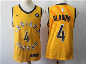 Indiana Pacers #4 Victor Oladipo 2017/18 Gold Swingman Jersey
