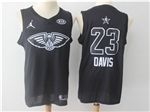 New Orleans Pelicans #23 Anthony Davis Black 2018 All-Star Game Swingman Jersey