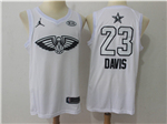 New Orleans Pelicans #23 Anthony Davis White 2018 All-Star Game Swingman Jersey