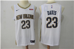 New Orleans Pelicans #23 Anthony Davis 2017/18 White Swingman Jersey