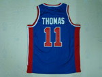 Detroit Pistons #11 Isiah Thomas 1988-89 Throwback Blue Jersey