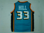 Detroit Pistons #33 Grant Hill 1998-99 Green Jersey
