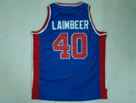 Detroit Pistons #40 Bill Laimbeer 1988-89 Throwback Blue Jersey
