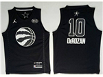 Toronto Raptors #10 DeMar DeRozan Black 2018 All-Star Game Swingman Jersey