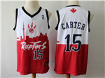 Toronto Raptors #15 Vince Carter White/Red 2019 City DNA Swingman Jersey